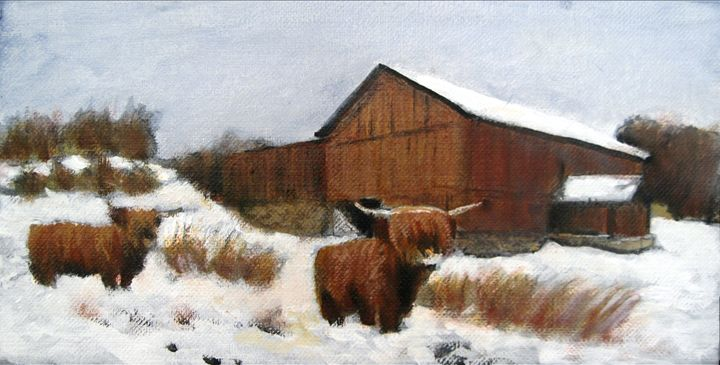 The Highland Fling - David Zimmerman Fine Art
