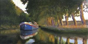 Steamer en Canal Du Midi - David Zimmerman Fine Art