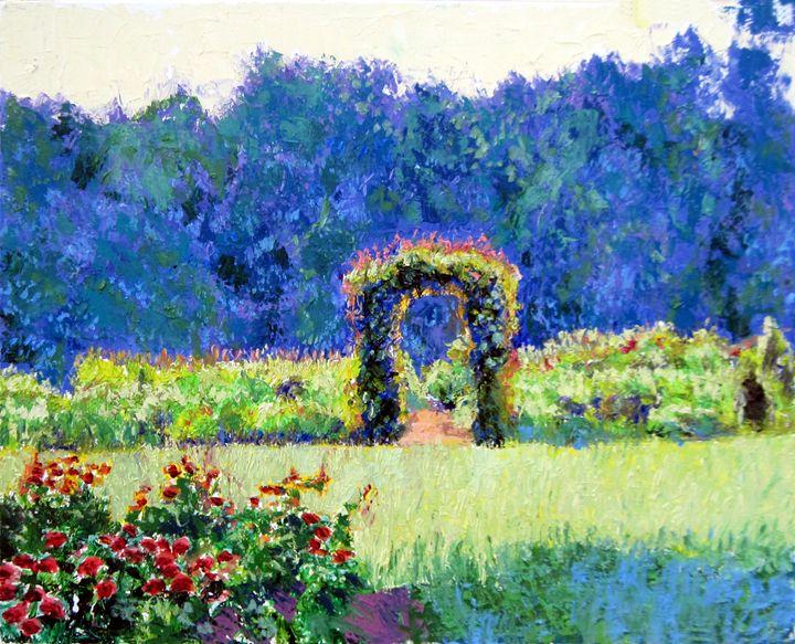 The Garden Gate - David Zimmerman Fine Art