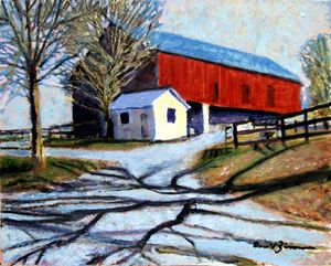 The Red Barn - David Zimmerman Fine Art