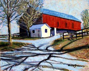 The Red Barn - David Zimmerman Fine Art