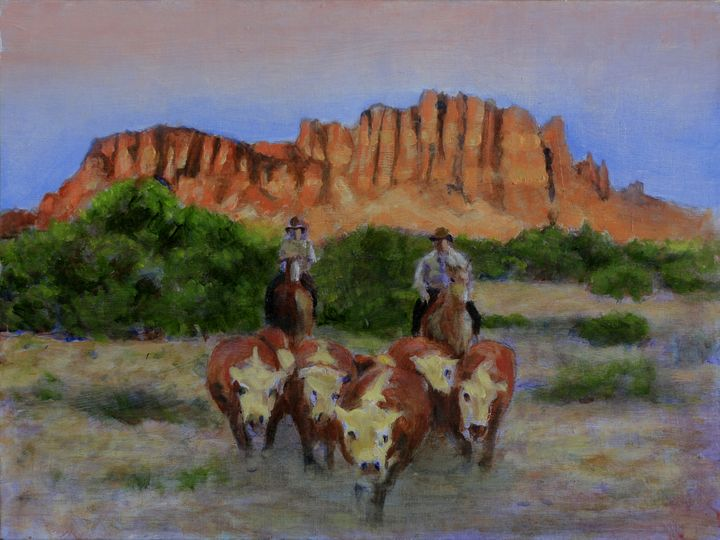 A Small Gather - David Zimmerman Fine Art