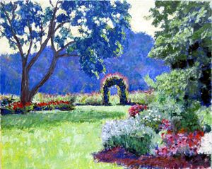 Through the Garden - David Zimmerman Fine Art