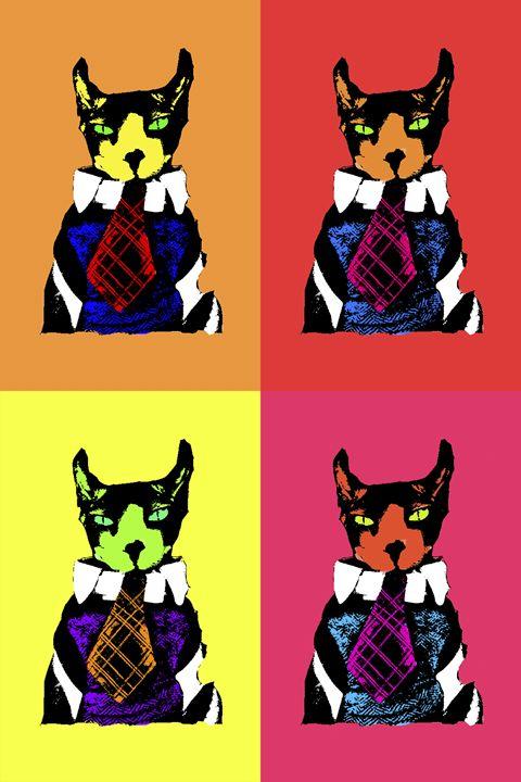 Cat Pop Art - Harley Hall