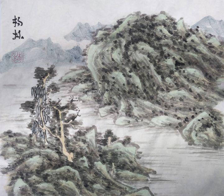 中国画写意山水 - lin