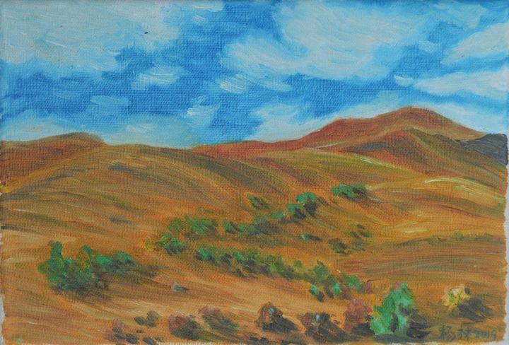 Desert blue sky - lin