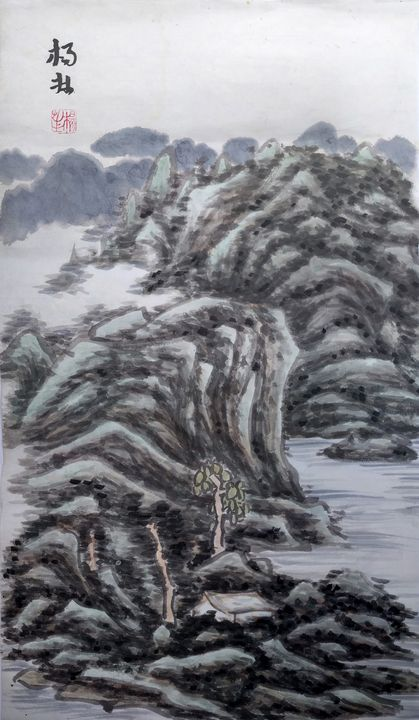 Chinese painting landscape - lin