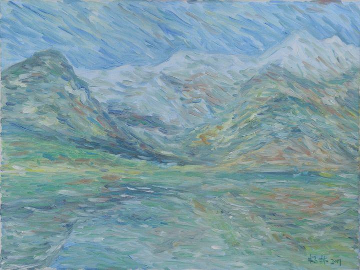 Lake and snow mountain - lin