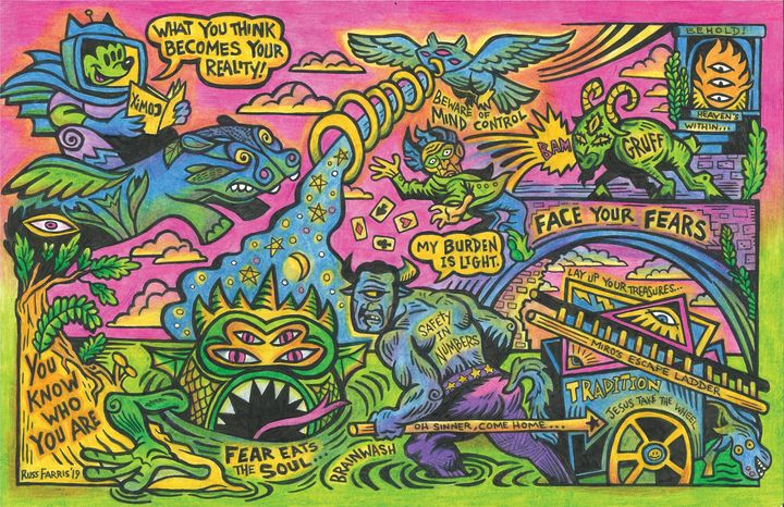 My Burden Is Light - Russ Farris Art