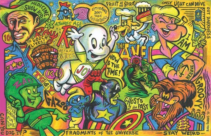 Super Station Fun Time - Russ Farris Art