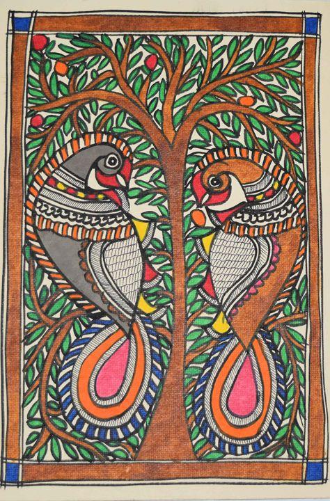 ART053-Beautiful-Painting-of-two-pea - Artkaari