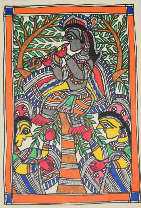ART052-Gopi-worshipping-Shri-Krishna - Artkaari