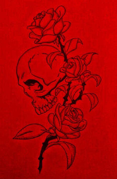 Skull & Flowers - Virgo Art