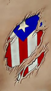 Rican Flag Under Skin - Virgo Art