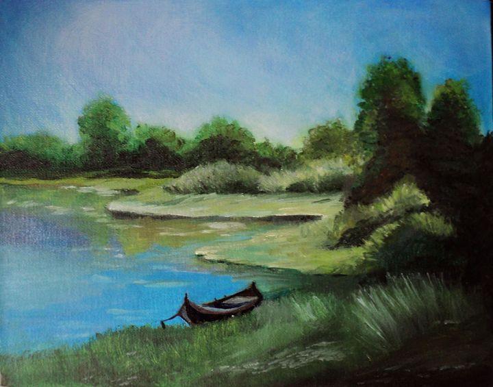 Landscape Lake Oil Painting - Sylvia T