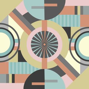 Modern geometric abstract