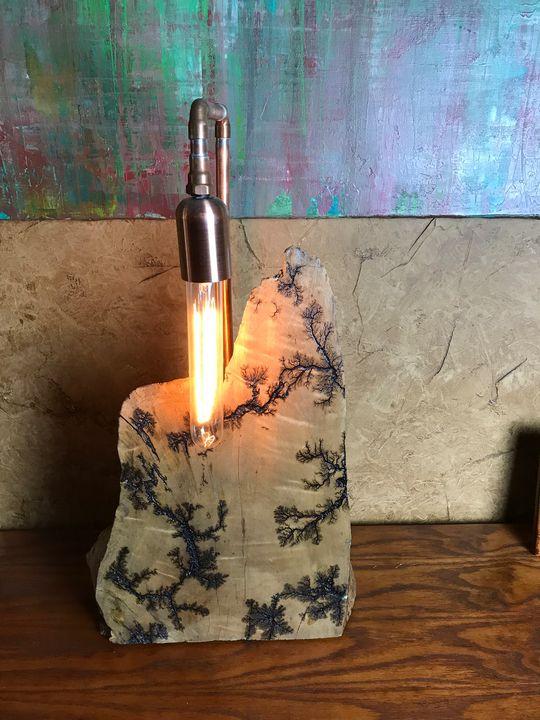 Lightning wood lamp #62 - OTTO ART