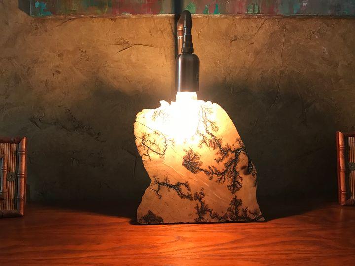 Lightning Wood lamp # 61 - OTTO ART