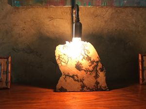 Lightning Wood lamp # 61 - OTTO ART