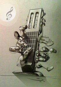 abstract musical keyboard
