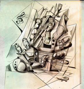 composition of flutes, keyboards