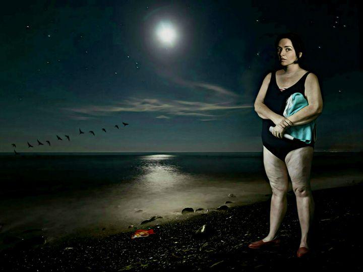 Midnight swim for lady Rudny - Jean-Marie GITARD (Mr Strange)