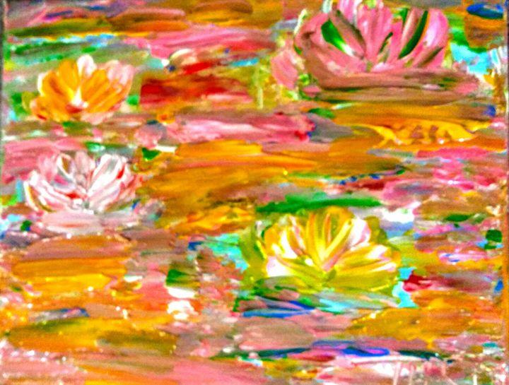 Lily Pond Series 2 - Marilyn St-Pierre Artwork