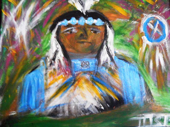 Indian Chief - Marilyn St-Pierre Artwork