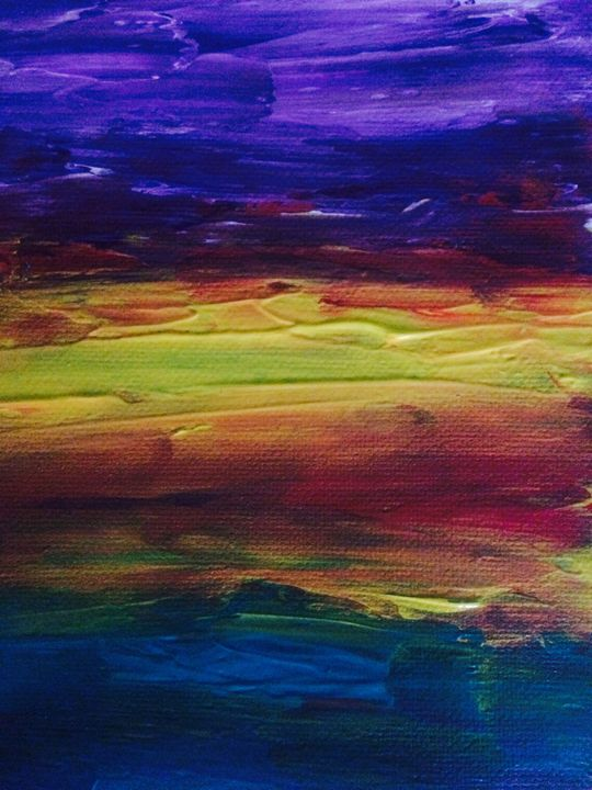 Purple Sky - Marilyn St-Pierre Artwork
