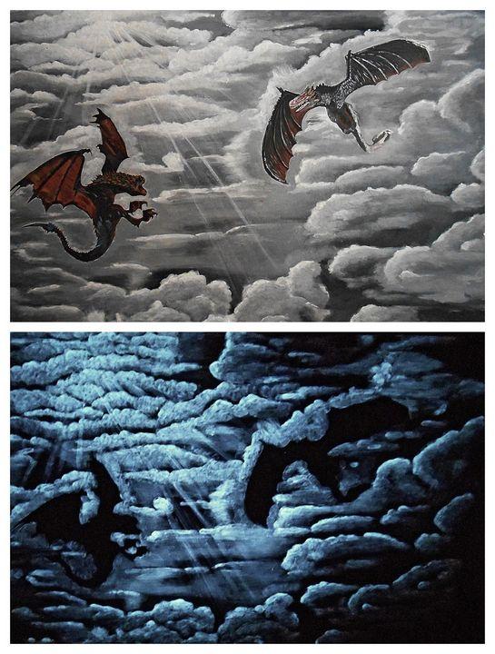 Glow in the dark dragons - My Art Dimension