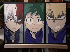My Hero Academia acrylic on canvas