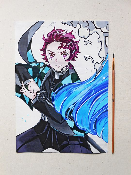 Tanjirou Kamado Kimetsu no yaiba - My Art Dimension