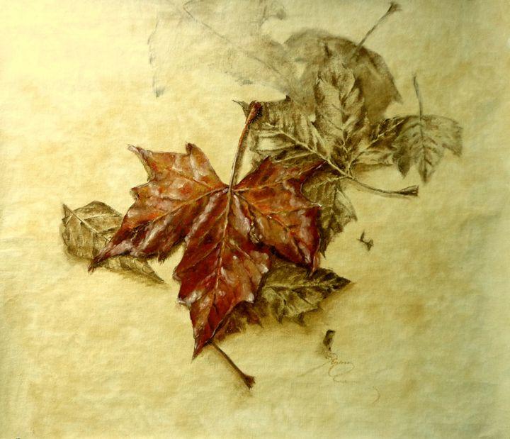lost plane tree leaves, oil, B3 - rogerioarte