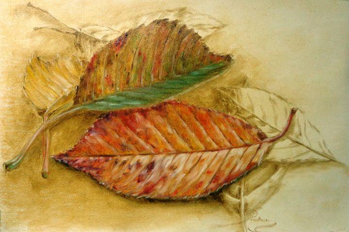 cherry leaves, oil, B3 - rogerioarte