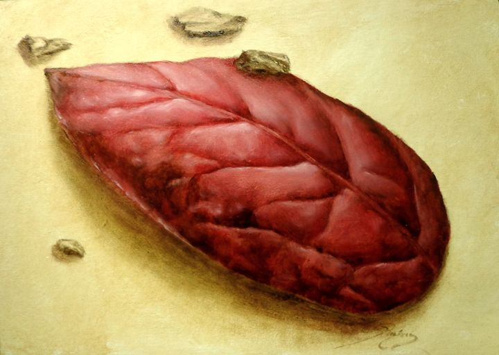 blueberry leaf, oil, B4 - rogerioarte