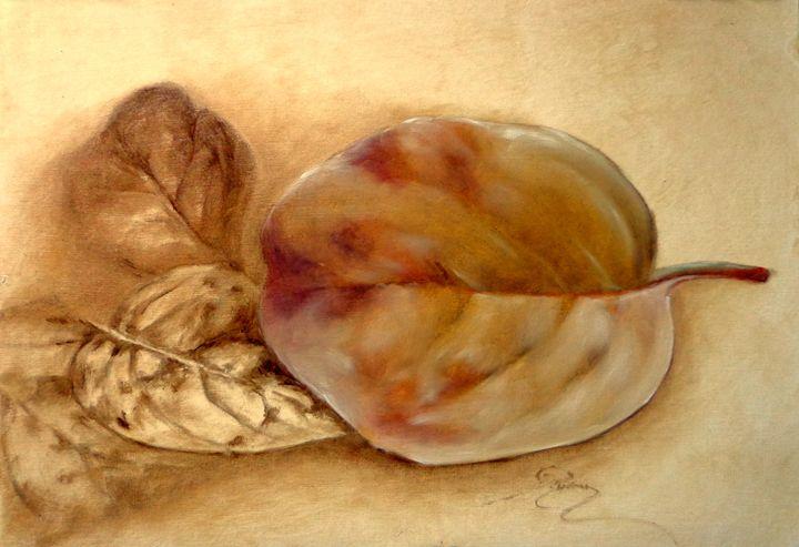 quince leaf, oil, B4 - rogerioarte