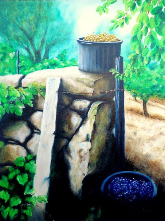 harvested grapes - rogerioarte