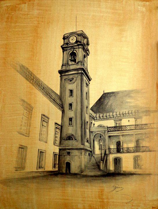 Torre da universidade de coimbra - rogerioarte