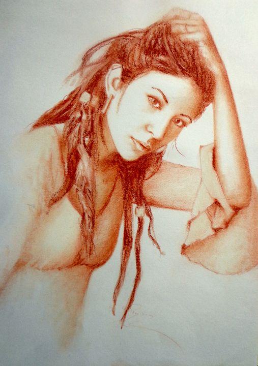 sanguine portrait, B4 - rogerioarte