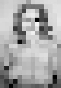 topless portrait, graphite, A4 - rogerioarte