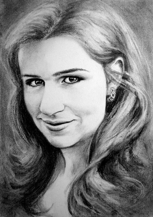charcoal portrait, A3 - rogerioarte