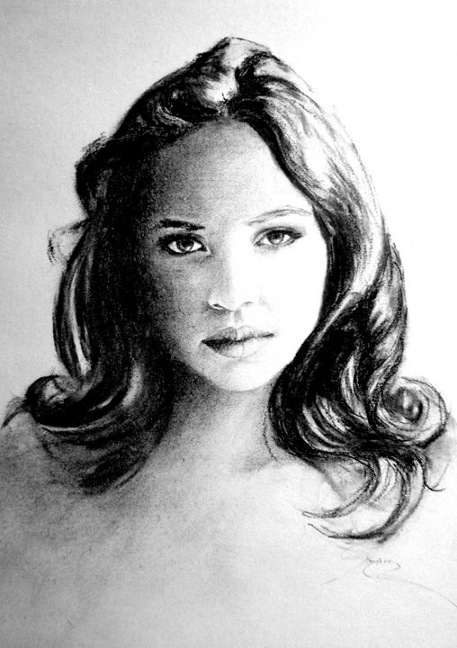 portrait, charcoal, B4 - rogerioarte