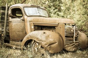 Rusty and crusty truck