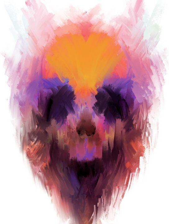Color Splash Skull - ABCole Art