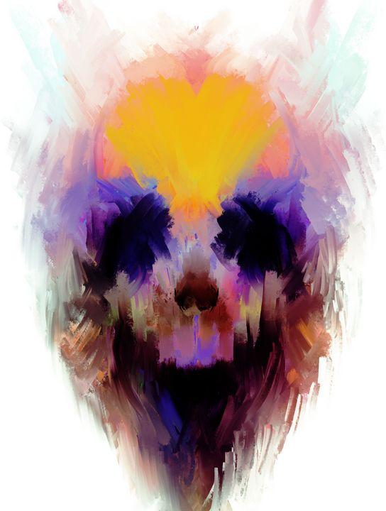 Color Splash Skull alt - ABCole Art