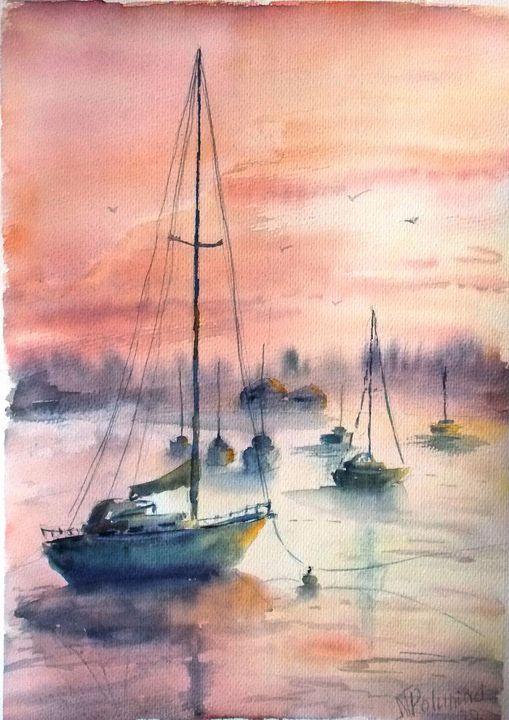 Landscape number 12 - Nina Polunina