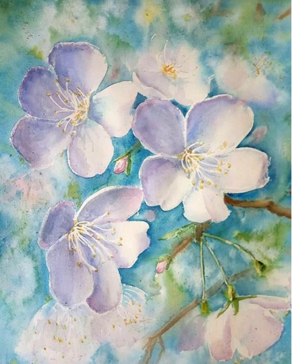 Apple tree blossoms - Nina Polunina