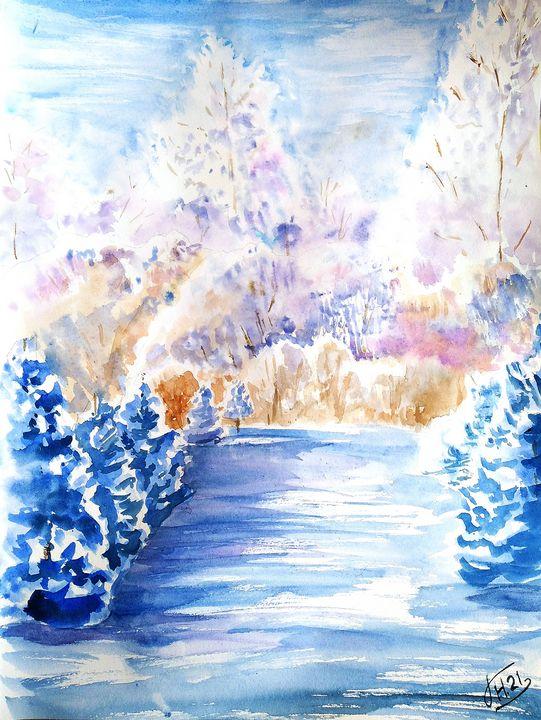 Landscape №17 - Nina Polunina