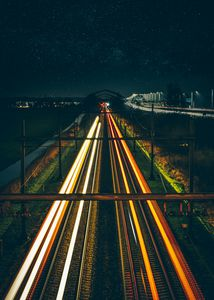 Trains Light Trail