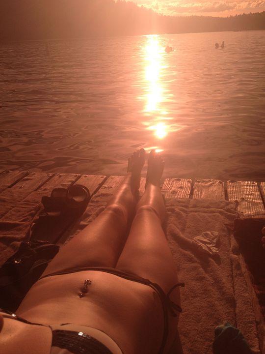 Dock at Sunset - Katherine Whitmore